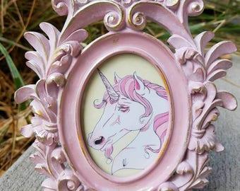 Pink Unicorn Illustration
