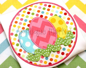 Machine Embroidery Design Eggs Circle Trim INSTANT DOWNLOAD