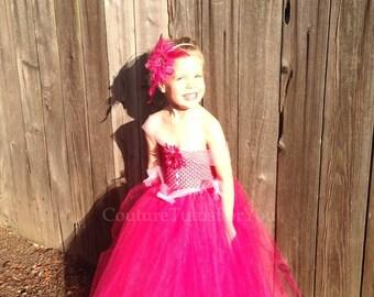 Aurora, Sleeping Beauty Tulle Dress, pink tulle dress, hot pink, Disney princess dress, tulle tutu dress, girls tulle dress, handmade,