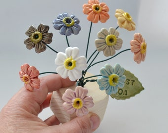 Flower Ceramic mix flower Spring Decoration ceramic home decor small Flower bouquet house flowers decor floral decorations
