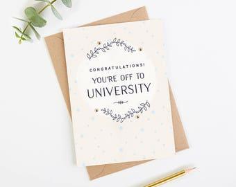 Congratulations University Card