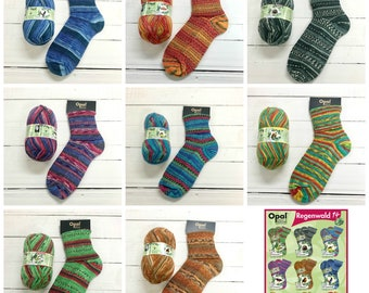 Sockyarn bundle Opal Rainforest Early-Bird pre-order for mid July dispatch this is a bundle of all 8 colours Save The Rainforest range 14