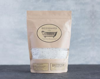 Bathing Salts - Egyptian Mint & Eucalyptus. 1 kg pack.