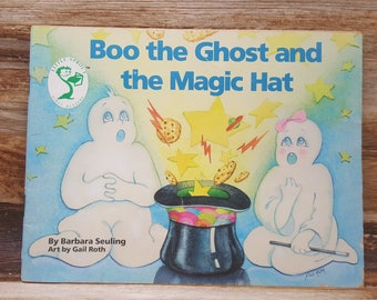 Boo the Ghost and the Magic Hat, 1988, Barbara Seuling, Gail Roth, vintage kids book