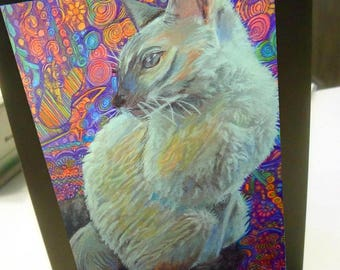 greeting card print of original art-  burmese cat