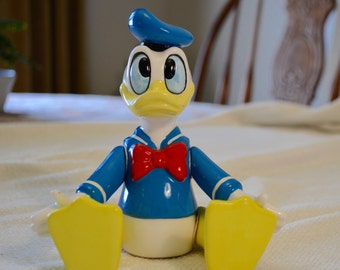 Disney's Donald Duck with Movable Arms and Legs Made in Japan by Schmid - Music Box Plays Yankee Doodle Needs Repair