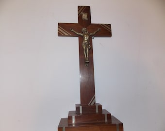 French Cross crucifix with jesus