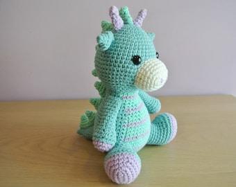 Spike the Crochet Dragon Amigurumi - Handmade Crochet Amigurumi Toy Doll - Dragon Crochet - Amigurumi Dragon