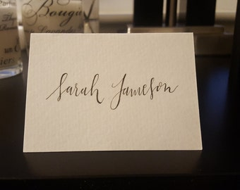 Handwritten Custom Calligraphy Wedding Place Cards