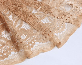 Nude lace fabric, fabric lace with nude lace, lace flower embossed flowers, lace, lace, nude lace fabric
