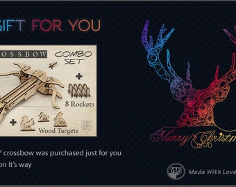 Toy wooden crossbow etsy gift card last minute gift gift for husband gift for boyfriend diy solutioingenieria Gallery