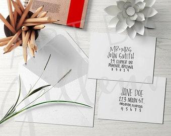 Wedding Invitation Envelope Calligraphy / envelope address lettering / hand lettered address / Custom address