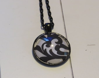 Black & White pendant necklace One of a Kind