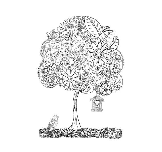 doodle tree 1 malseite für erwachsene ausmalbilder zum
