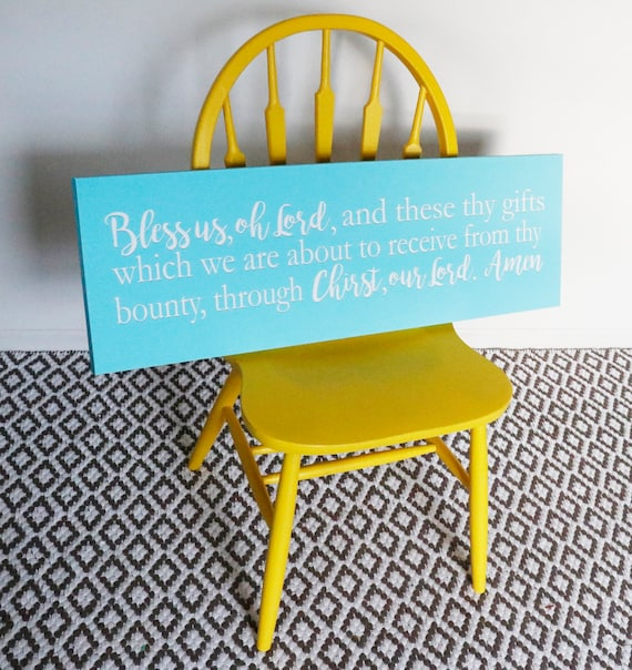 Bless us oh Lord Sign. Dining Room Wall Art. Kitchen Decor.