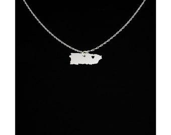 Puerto Rico Necklace - Puerto Rico Jewelry - Puerto Rico Gift