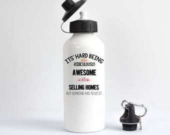Real Estate Agent Water Bottle, Funny Real Estate Agent Water Bottle, Closing Gift for Real Estate Agent, Real Estate Agent Gift