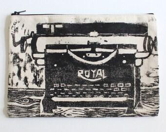 Typewriter Zip Pouch - Purse - Tote