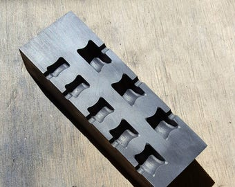 Graphite Mold: Gauge Mold V2 (10mm-24mm)