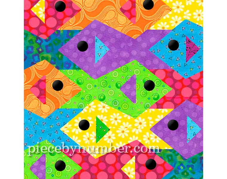 Tessellating Fish quilt pattern paper pieced quilt patterns : tessellation quilt - Adamdwight.com