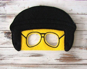 Felt Mask, Good Cop, Bad Cop, Dress Up, Halloween, Costume, Pretend Play