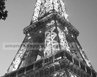 Eiffel Tower fine art photograph black and white