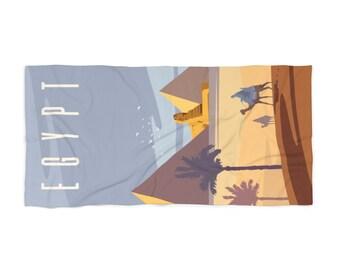 Egypt Tavel Poster Beach Towel