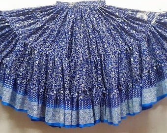 25Yard Multicolor Tribal Gypsy Layered Maharhani ATS Skirt~