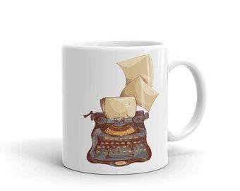 Writer Mug - Vintage Typewriter Coffee Mug - Writer Gift - Author Gift - NaNoWriMo