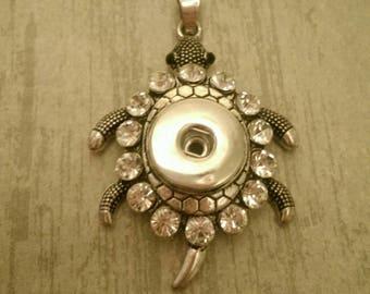 Snap jewelry pendant turtle