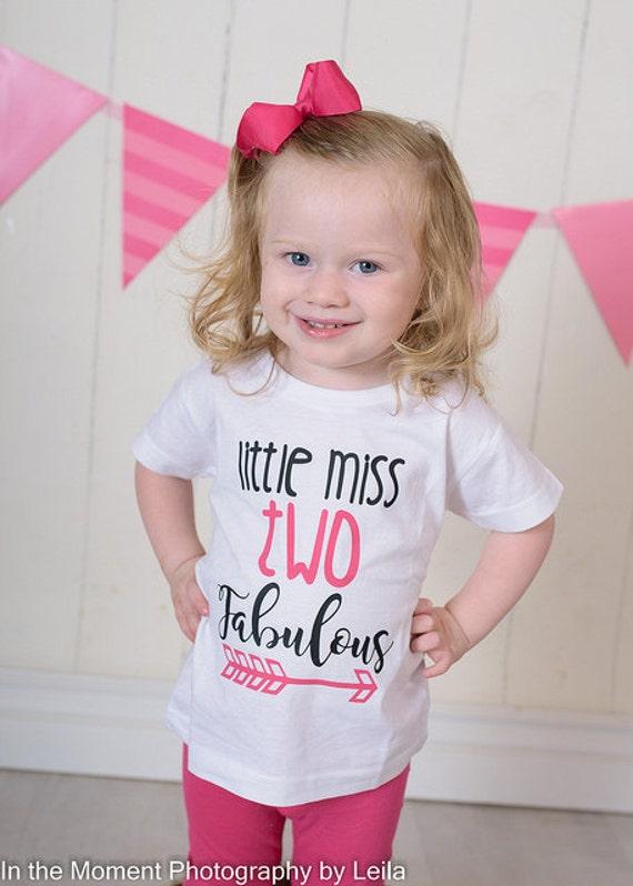 Little Miss Two Fabulous 2nd Birthday Shirt Birthday Shirt