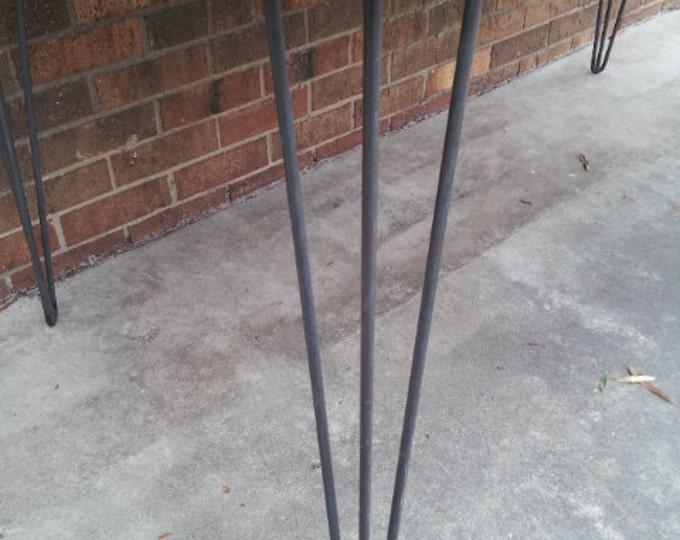 """3-Rod Hairpin Legs Steel Legs Metal Hairpins 24-28"""" SET OF FOUR Metal Legs Furniture Legs"""