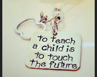 Teacher Necklace,Teacher Gift, Teacher Retirement Gift, Gift From Student