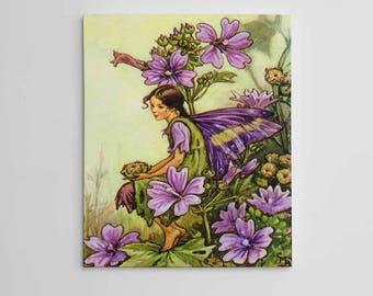 Purple Fairy Wall Art, Flower Fairies, Beautiful Fairy Art, Fairy Art Print, Fairy Artwork, Fairy Wall Decor