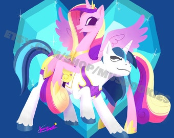 Cadance & Shining Armor My Little Pony 11x14 Print