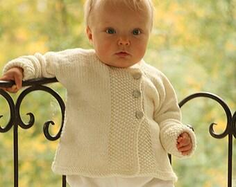 gestricktes BABYJÄCKCHEN BABYJACKE STRICKJACKE Merino in Wunschfarbe Größe