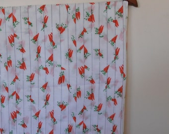 red carrots...vintage voile fabric