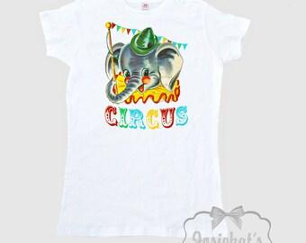Circus Shirt Women - Baseball Shirt Circus Elephant - Custom Adult Unisex - Circus Party Shirt - Big Top Party Shirt - Size S M L Xl 2Xl 3xl qk4SkbhRv0