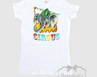 Circus Party Shirt - Womens Circus Shirt - Retro Circus Elephant Shirt - Ladies Circus Shirt - Big Top Circus - Adult Size S M L Xl 2Xl