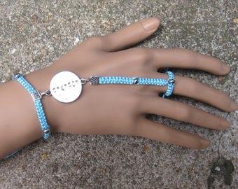 bague bracelet bleu ciel à personnaliser