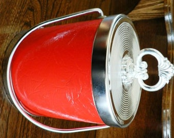 vintage Retro Rage ...  Mad Man cool Red ICE BUCKET  Bar Ware COCKTAIL  ...