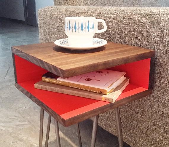 Mid Century Modern End Table Hairpin Legs