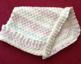 SALE! Forget Me Not baby blanket knitting pattern