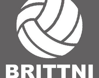 Volleyball Decal with Name