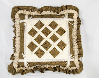 Vintage Cathedral Window Pillows (2)