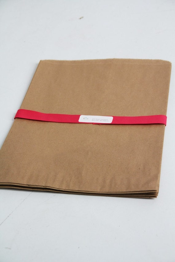 """Kraft Paper Bags- XXL size  16"""" x 3-3/4 """" x 24"""" Lot of 25   flat paper bags, merchandise bags, kraft paper favor bags, blank paper bags"""