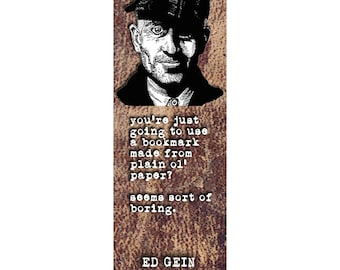 ed gein bookmark