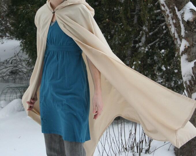 Hooded Cloak - Adult, Cream