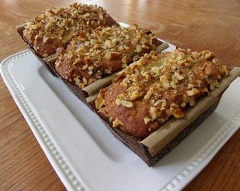 Organic Banana Walnut Bread - 3 Petit Loaves