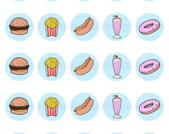 Fast Food Badges
